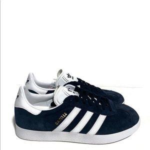 Mens Adidas Originals Gazelle Navy Blue White Gold